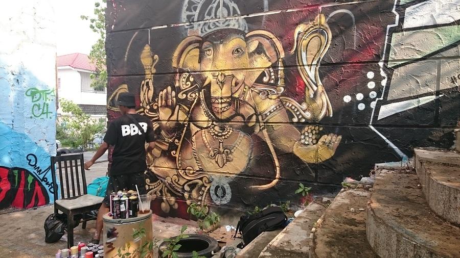 Grafitti-festival hos Batman