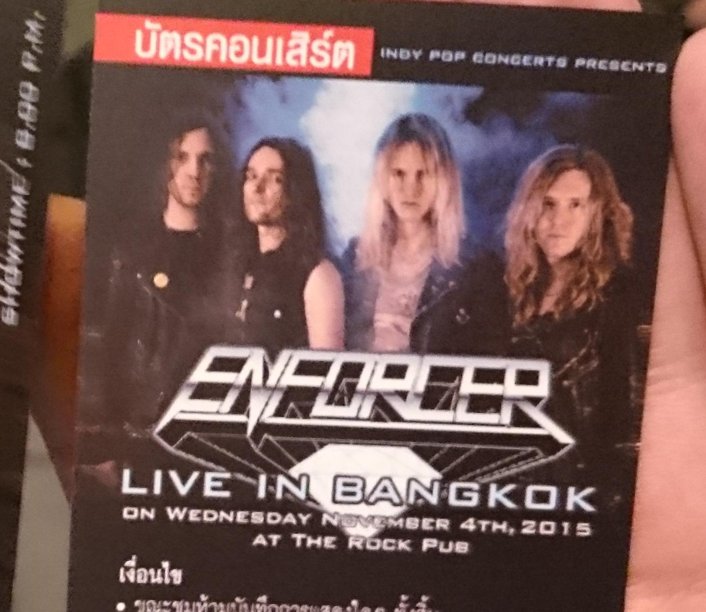 Enforcer – Svensk Heavy Metal i Bangkok