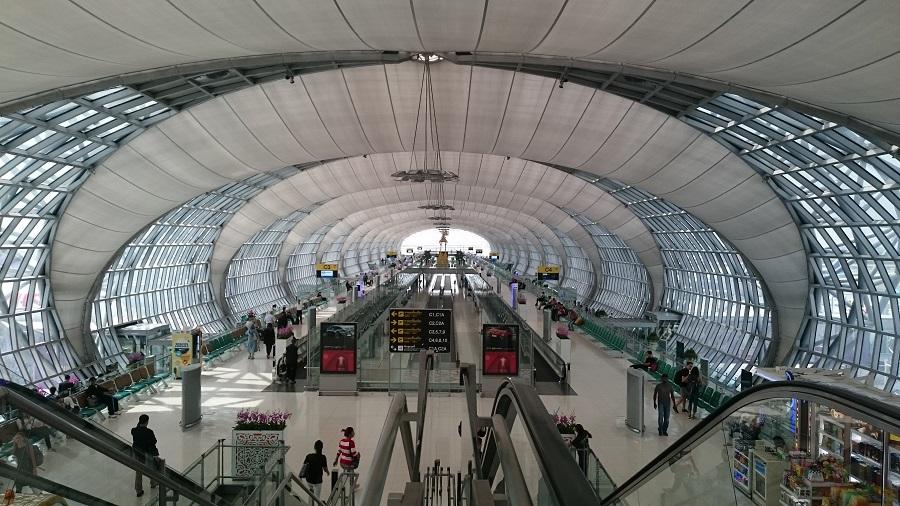 Ankomst flyplassen i Thailand