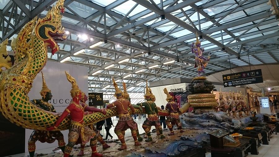 Etter landing i Thailand